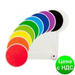 Набор цветов и геометрических фигур (веер) ZB.4904