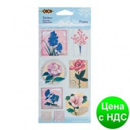 """Наклейки фактурные """"Flora"""",  9.5*17.5см ZB.63924-AB"""