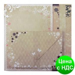 """Основа для листовок с цветными конвертами """"Vintage"""" 10.5*14.8см ZB.18221-AD"""