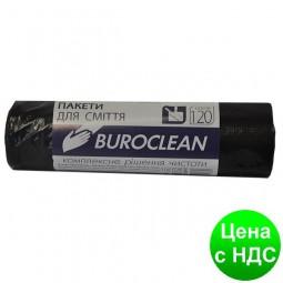 Пакеты для мусора 120л/10шт, черные BuroClean ECO 10200041