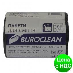 Пакеты для мусора 35л/100шт, черные BuroClean ECO 10200021