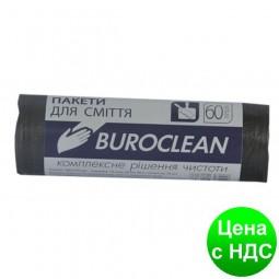 Пакеты для мусора 60л/40шт, крепкие, черные BuroClean EuroStandart 10200036