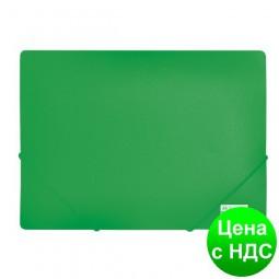 Папка пласт. А4 на резинках, JOBMAX, зеленый BM.3911-04