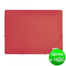 Папка пласт. А4 на резинках, JOBMAX, красный BM.3911-05