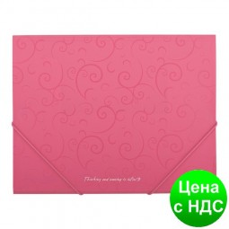 Папка пласт. А5 на резинках, BAROCCO, розовый BM.3902-10