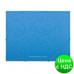 Папка пласт. А5 на резинках, BAROCCO, голубой BM.3902-14