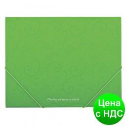 Папка пласт. А5 на резинках, BAROCCO, салатовый BM.3902-15