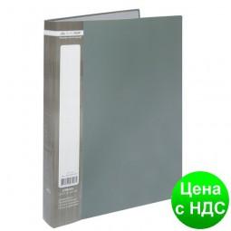 Папка с 40 файлами А4 JOBMAX, серый BM.3616-09