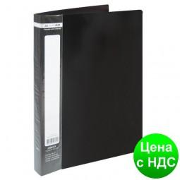 Папка с 40 файлами А4 JOBMAX, черный BM.3616-01