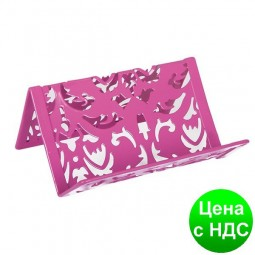 """Подставка для визиток """"Barocco"""" 100x97x47мм, металлическая, розовый BM.6226-10"""
