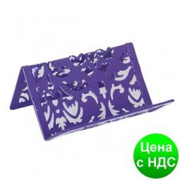 """Подставка для визиток """"Barocco"""" 100x97x47мм, металлическая, фиолетовый BM.6226-07"""