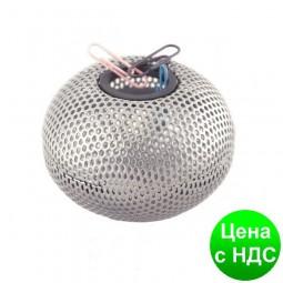 "Подставка для скрепок ""Шар"", металлическая 75х57мм, серебро BM.6220-24"
