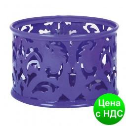 """Подставка для скрепок """"Barocco"""" 85х53мм, металлическая, фиолетовый BM.6222-07"""