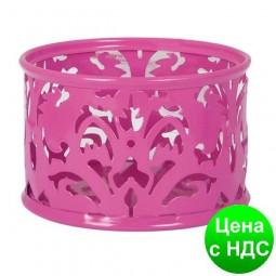 """Подставка для скрепок """"Barocco"""" 85х53мм, металлическая, розовый BM.6222-10"""