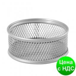 Подставка для скрепок 80x80x40мм, металлическая, серебро BM.6221-24