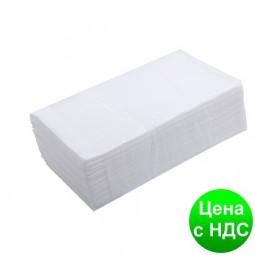 Полотенца бумажные целюлозные Z-подобные.,160шт., 2-х слойные, белый 10100103