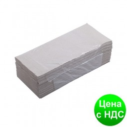Полотенца бумажные макулатурные Z-подобные.,160шт., серые 10100101
