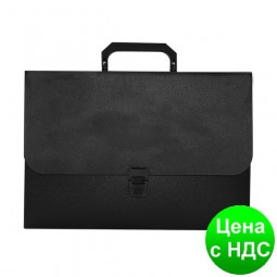Портфель пласт на замке, JOBMAX, черный BM.3735-01