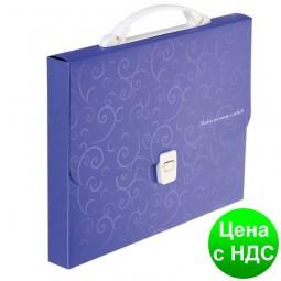 Портфель пластиковый A4/35мм, BAROCCO, фиолетовый BM.3719-07