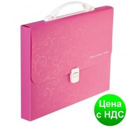 Портфель пластиковый A4/35мм, BAROCCO, розовый BM.3719-10