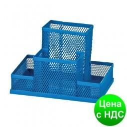 Прибор настольный 150x100x100мм металлический, синий ZB.3116-02