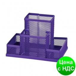 Прибор настольный 150x100x100мм металлический, фиолетовый ZB.3116-07