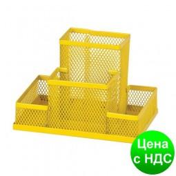 Прибор настольный 150x100x100мм металлический, желтый ZB.3116-08