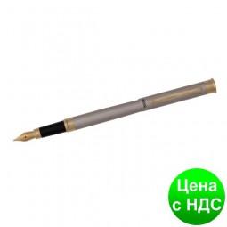 Ручка перьевая в бархатном чехле, никель R68002.F