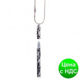 """Ручка шариковая """"Lace"""" с цепочкой 70см, белый, в подарочном футляре LS.402027-12"""