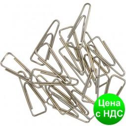 Скрепки никелированные 25мм, 100шт., треугольные, никелированные BM.5007