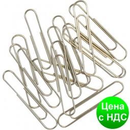 Скрепки никелированные 33 мм, 100 шт. BM.5003