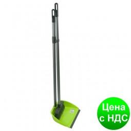 Совок с резиновой накладкой и щетка с длинной ручкой 10300501