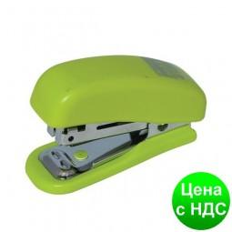 Степлер пластиковый Міні до 10листов (Скобы №10), св-зеленый BM.4125-15