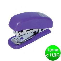 Степлер пластиковый Міні до 10листов (Скобы №10), синий BM.4125-02
