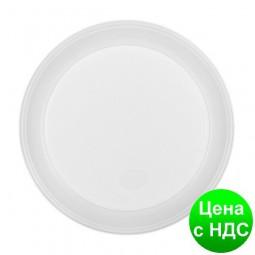 Тарелка десертная одноразовая, d-165 мм, белая,, 1-секц., 4 г, 100шт/уп 1080121