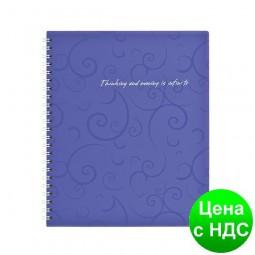 Тетрадь на пруж. Barocco В5, 80 листов, кл., фиолетовый, пласт.обложка BM.2419-607