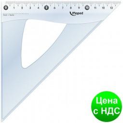 Треугольник ESSENTIALS, 45гр/210мм (гипотенуза) пластик, дисплей MP.146123