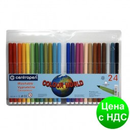 Фломастеры Centropen 24 цвета 7550.24