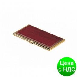 """Футляр  для визиток """"Красное дерево"""" 1327WDM"""