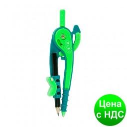 Циркуль пластиковый со шкалой в блистере, зелено-салатовый ZB.5396-04
