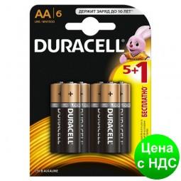Элемент питания (батарейка) DURACELL LR6 (AA) s.07458