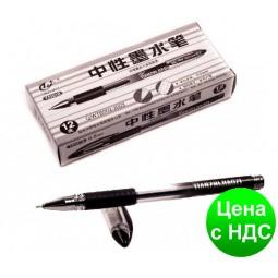 Ручка гелевая Tianjiao TZ-501B с грипом (черная)