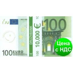 """Пачка денег (сувенир) 005 Евро """"100"""""""