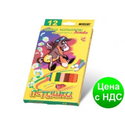 "Карандаши цветные ""MARCO"" Пегашка Jumbo с точилкой(12 цветов)"