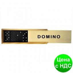 """Игра настольная """"Домино"""" (в деревянной коробке 3,6*5,5*16,7 см.)"""
