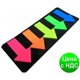Стикеры самоклеющиеся 4026 (5 шт./46*27 мм) полоски липкие пластиковые цветные
