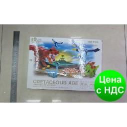 """Конструктор пластиковый K1351 3D """"Мир динозавров"""" 700 деталей"""