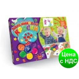 """Пальчикові фарби """"Моё первое творчество"""" 7 кольорів рус. (12)"""