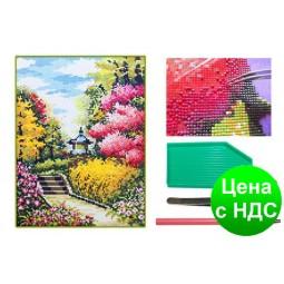 Мозаика алмазная 5D Цветущий сад 31*40 см.