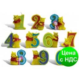 Свечи  цифры  (в торт)  Winni Pooh №6